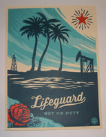 Shepard Fairey Lifeguard Not On Duty Poster 2014
