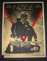 Shepard Fairey State Violence State Control Noise Poster 2018