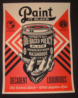 Shepard Fairey Paint It Black Hand Art Print 2014 Obey Giant