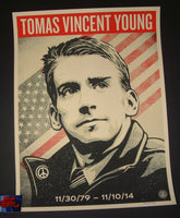 Shepard Fairey Tomas Young Tribute Poster 2017