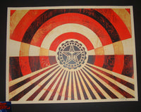 Shepard Fairey Tunnel Vision Art Print Gold Red Variant 2018
