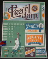 Steve Thomas Pearl Jam Poster Boston Fenway Park Orange Variant 2016 Artist Edition