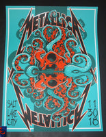 Tony Squindo Metallica Salt Lake City Poster 2018