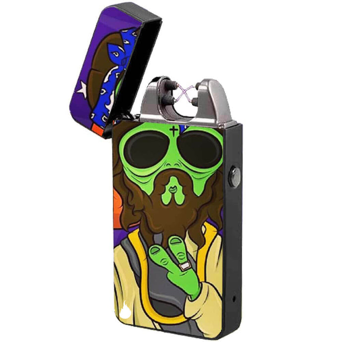 electric usb cigarette lighter the flame x alien windproof rechargeable