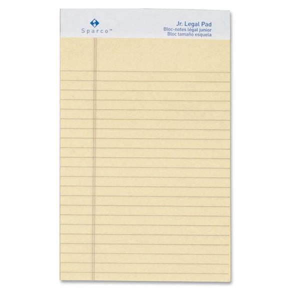 Sparco Colored Jr. Legal Ruled Writing Pads   Jr.Legal