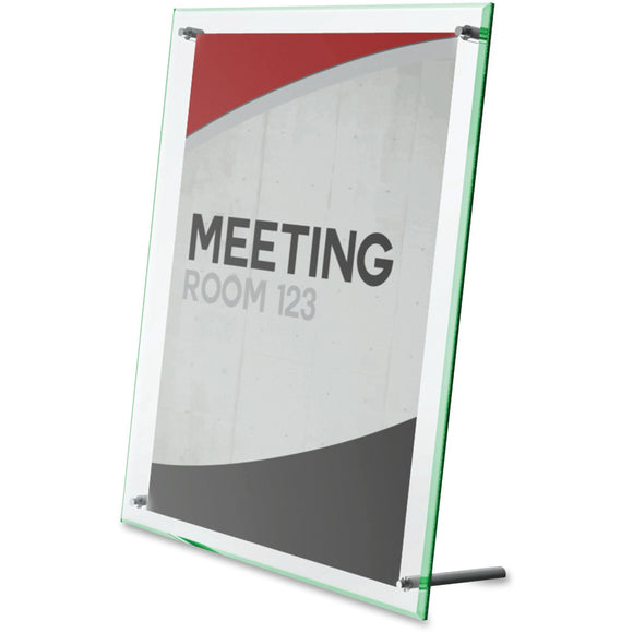 Deflecto Superior Image Beveled Sign Holder