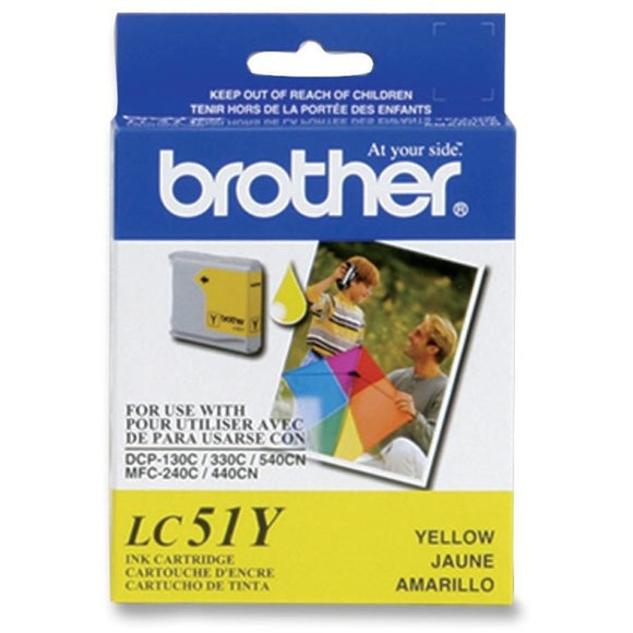 Brother LC51YS Ink Cartridge - Inkjet - High Yield - 400 Pages - Yellow - 1 Each