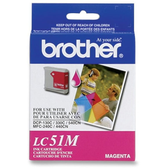 Brother LC51MS Original Ink Cartridge - Inkjet - 400 Pages - Magenta - 1 Each