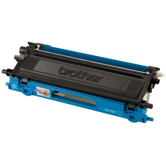 Brother TN115C Original Toner Cartridge - Laser - 4000 Pages - Cyan - 1 Each