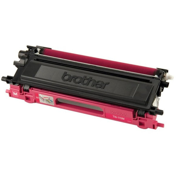 Brother TN115M Original Toner Cartridge - Laser - 4000 Pages - Magenta - 1 Each