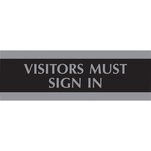 HeadLine Visitors Must Sign In Sign
