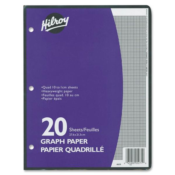 Hilroy One Sided Metric Quad Ruled Filler Paper