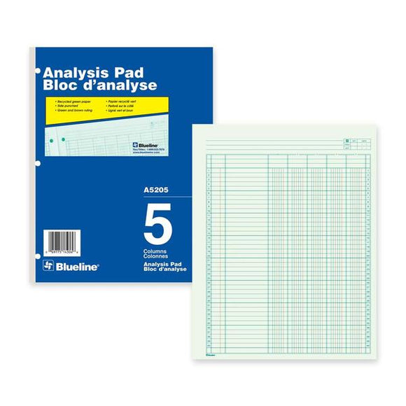 Blueline Analysis Columnar Pad
