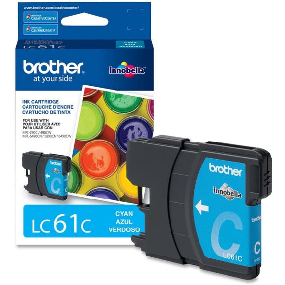 Brother Original Ink Cartridge - Inkjet - 325 Pages - Cyan - 1 Each