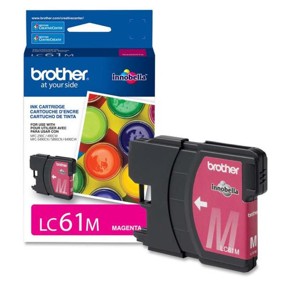 Brother LC61MS Original Ink Cartridge - Inkjet - 325 Pages - Magenta - 1 Each