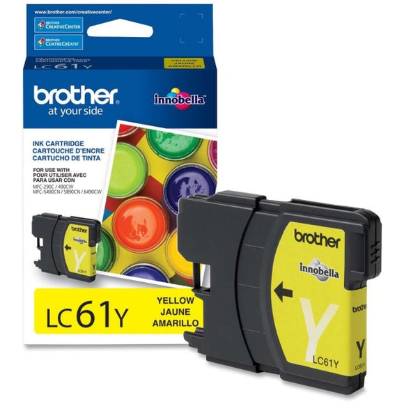 Brother Original Ink Cartridge - Inkjet - 325 Pages - Yellow - 1 Each