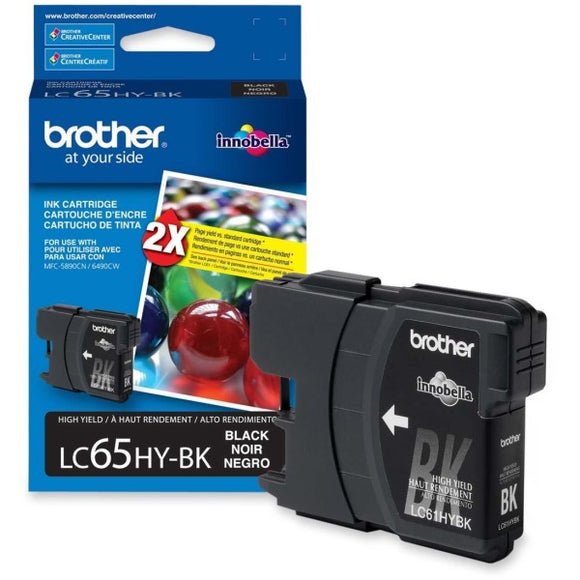 Brother LC65HYBKS Original Ink Cartridge - Inkjet - 900 Pages - Black - 1 Each