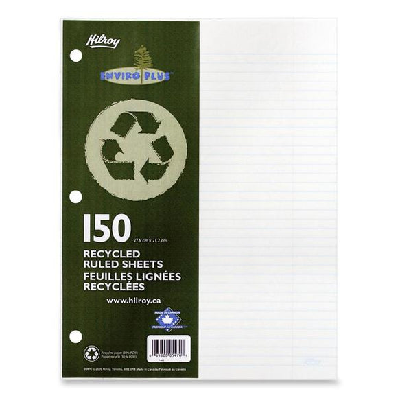 Hilroy 05470 Recycled Notebook Filler Paper