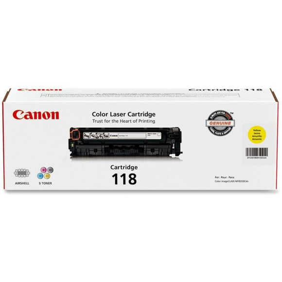 Canon CART118Y Toner Cartridge - Laser - 2900 Pages - 1 Each