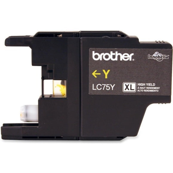 Brother LC75YS Original Ink Cartridge - Inkjet - 600 Pages - Yellow - 1 Each