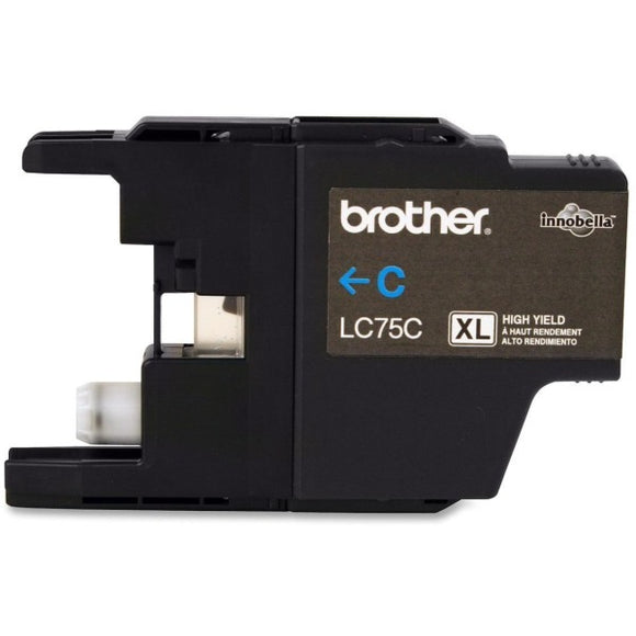 Brother LC75CS Original Ink Cartridge - Inkjet - 600 Pages - Cyan - 1 Each