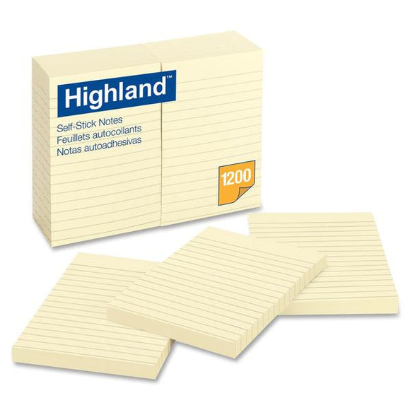 Highland Ruled Self Adhesive Note Pads