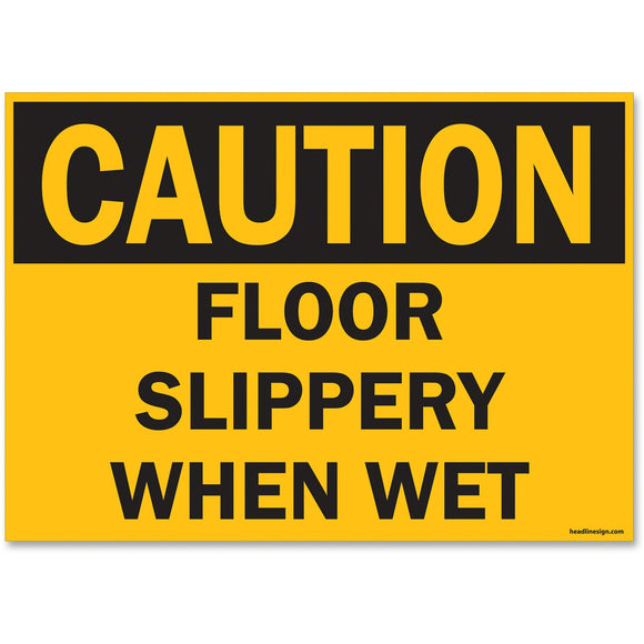 U.S. Stamp & Sign OSHA Slippery When Wet Sign