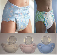2 Diapers & Pacifier - ABU SPACE Diapers, ABU LittlePawz & Pacifier - ABDL