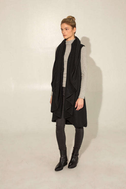 THE BLACK DRAPE VEST