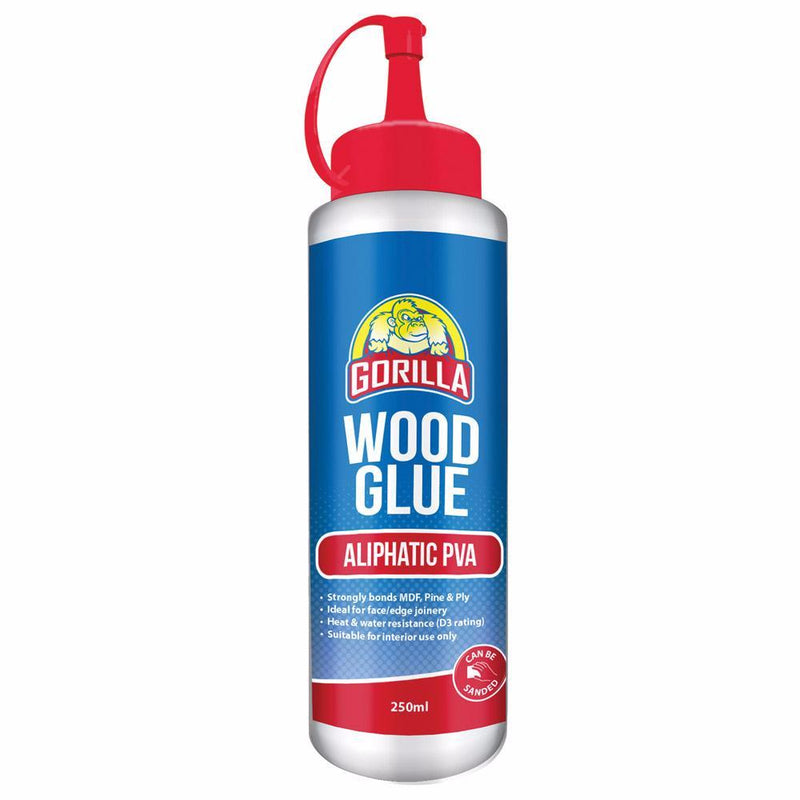 Gorilla Aliphatic PVA Plus Wood Glue 250ml