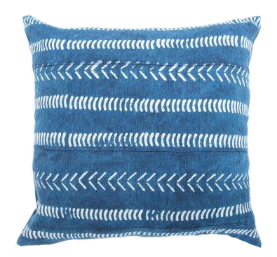Block Print Cushion Cover ~ Indigo
