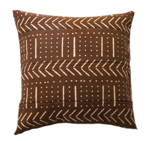 Block Print Cushion  Cover ~ Rust