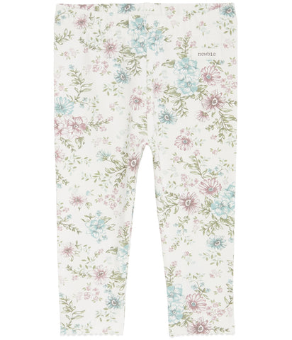 Baby floral print leggings with ruffles