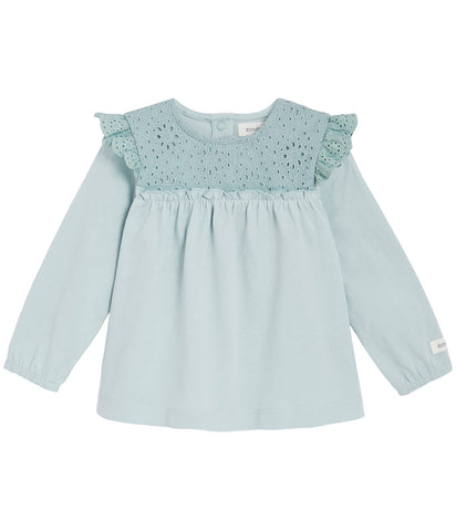 Baby blouse with lace details
