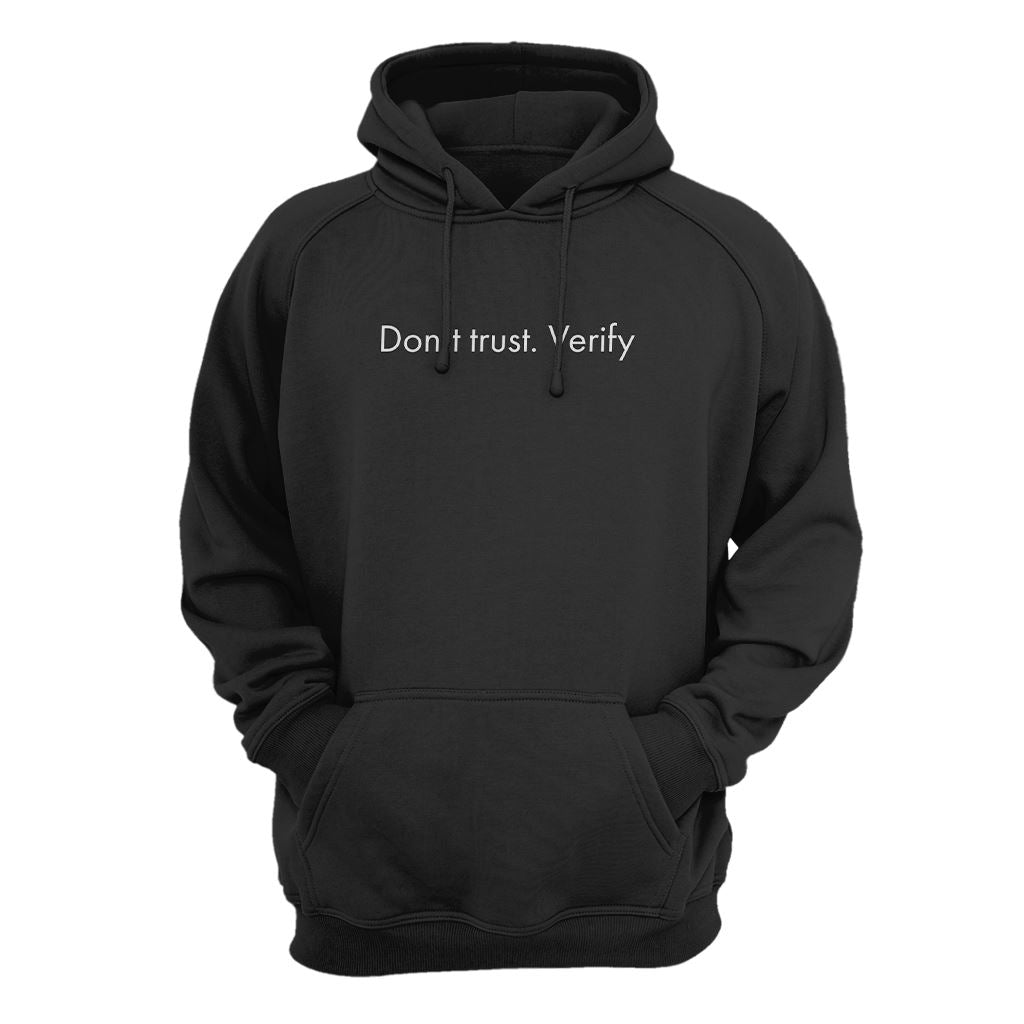 Don't Trust. Verify Hoodie - Crypto Wardrobe Bitcoin Ethereum Crypto Clothing Merchandise Gear T-shirt hoodie