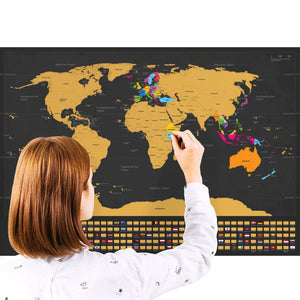 Scratch-Off World Map (2019 Update - German)-Enno Vatti