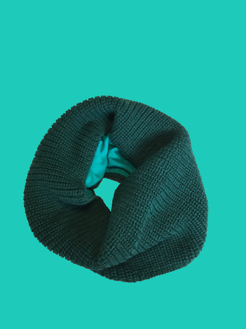 TEAL GREEN KIMMY COLLAR TUCK STITCH