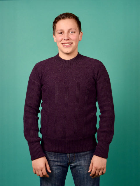 LOTUS KNITTED JUMPER PURPLE UNISEX