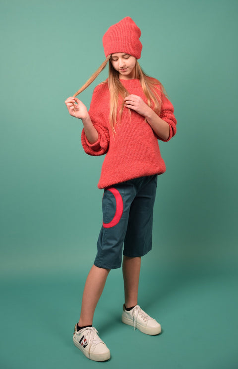 KIMMY OVERSIZED KNITTED JUMPER PINK