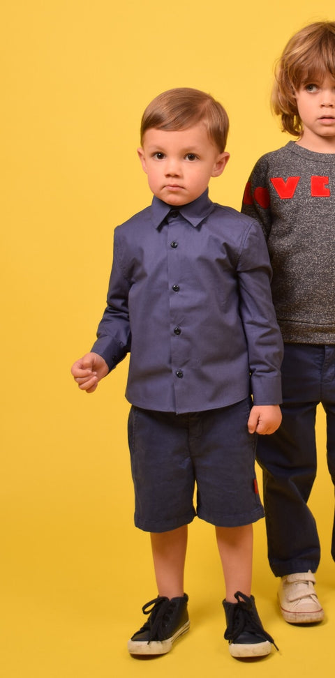AKOO BOYS SHIRT KOBALT BLUE