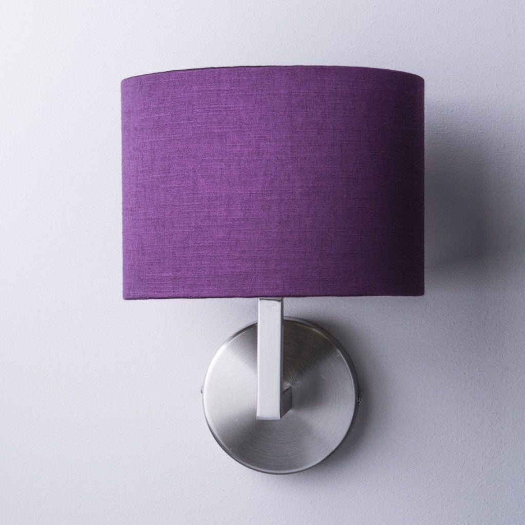 Emma Brushed Steel Wall Light