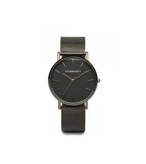 City Black Mesh Watch