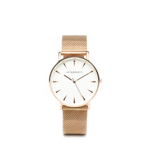 City Rose Gold Mesh Watch