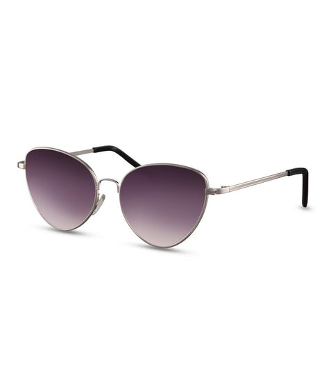 Simple Cat Eye Sunglasses With Smoke Lens