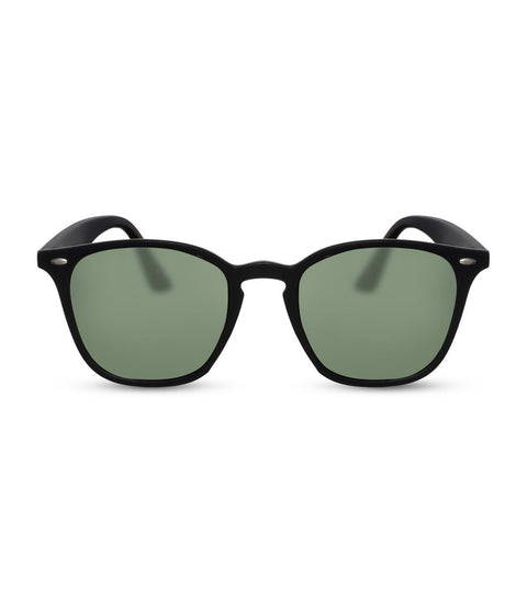 Simple Matte Black Sunglasses With Smoke Lens