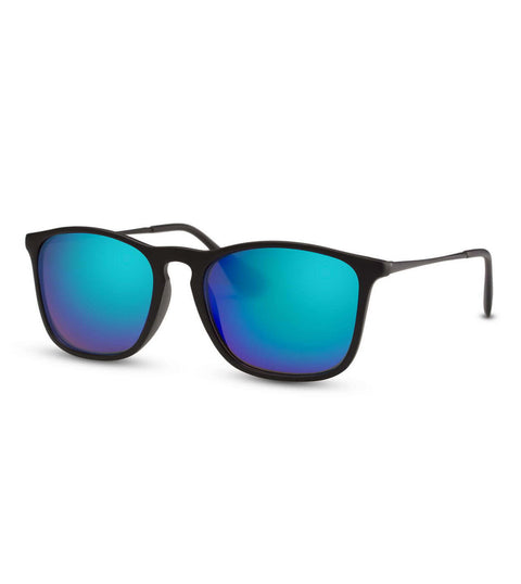 Blue Flash Sunglasses in Black