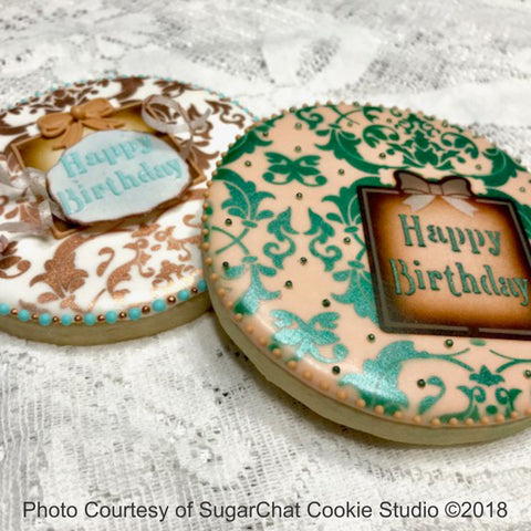 Victorian Birthday Prettier Plaques Cookie Stencil 5 Pc Set