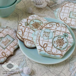 Seas the Day Dynamic Duos Messages Cookie Stencil Set