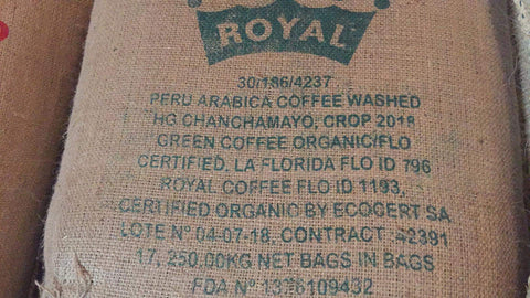 Peru Fair Trade Organic Chanchamayo Coffee Unroasted