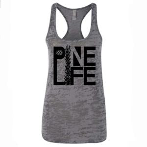 PINE LIFE - Women's Burnout Tank, Grey